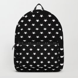 goat patterns white Backpack