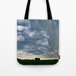 Storms over Nebraska Plains Tote Bag
