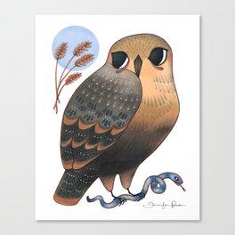 Hawk & Snake Canvas Print