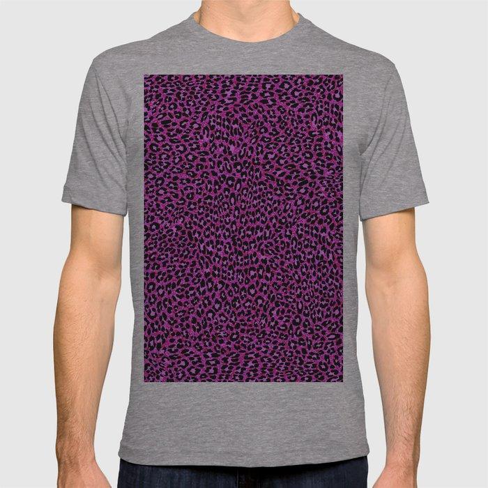 2284cceed101 Pink & Black Glitter Cheetah Print T-shirt by serigraphonart | Society6