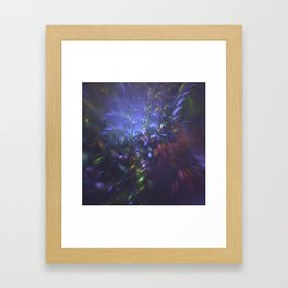 Blue Splash Framed Art Print