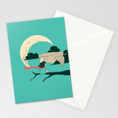 Did you see the whale in flight Stationery Cards
