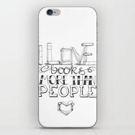 Book lover iPhone Skin