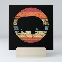 Hippo Retro Mini Art Print