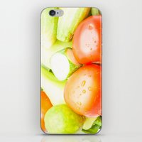 vegetables iPhone & iPod Skins featuring vegetables by Marcel Derweduwen