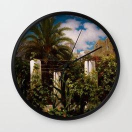 """Frederic Leighton """"Garden of an Inn, Capri"""" Wall Clock"""