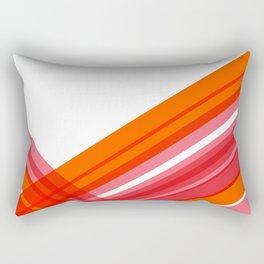 Tangerine Abstract Rectangular Pillow