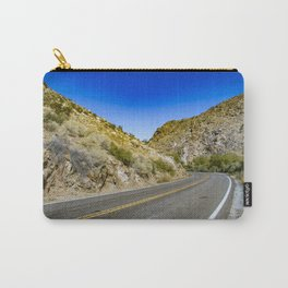 Highway Road Cutting through the Mountains in the Anza Borrego Desert, California, USA Carry-All Pouch