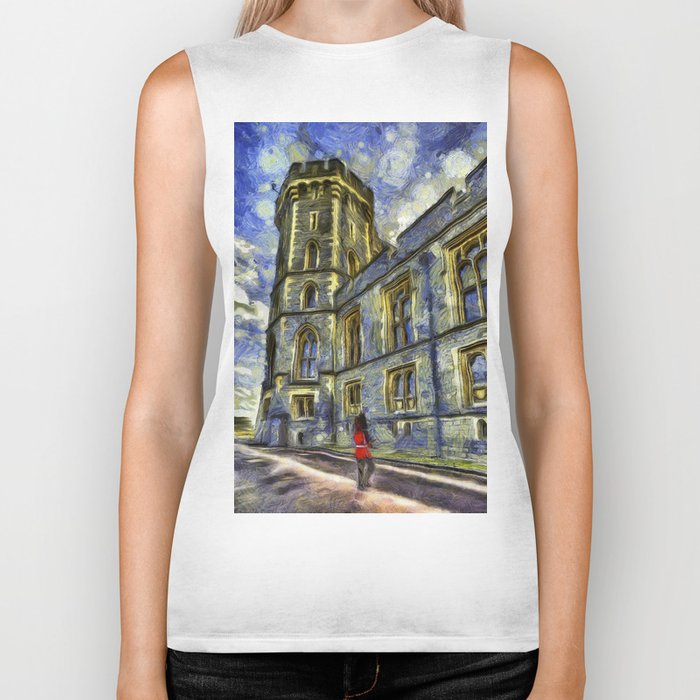 Windsor Castle Coldstream Guard Art Biker Tank