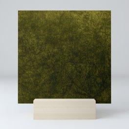 olive green velvet   texture Mini Art Print