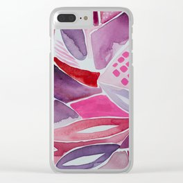 Bottle of Red Design 5 Clear iPhone Case