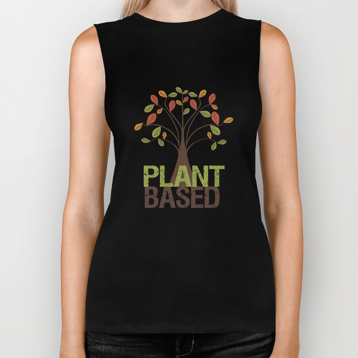 Plant Based Fall Tree Biker Tank