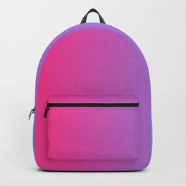 Hot Pink And Blue Gradient Background Backpack