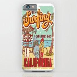 The Best Surfing – Santa Monica Beach iPhone Case