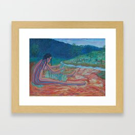 Eve opposite the garden of Eden Framed Art Print