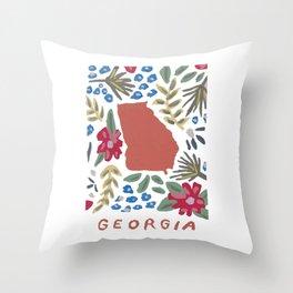 Georgia + Florals Throw Pillow