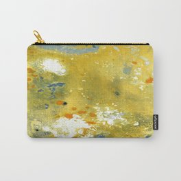 Abstract Acrylic Painting YELLOW Carry-All Pouch