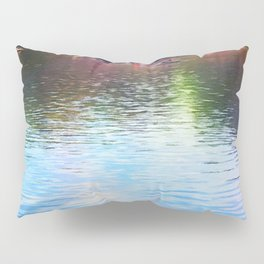 Central Park Boats on Rainbow Waters Pillow Sham