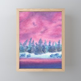 Cool-Toned Forest Framed Mini Art Print