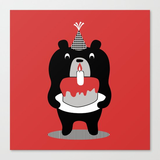 Cake Bear Canvas Print