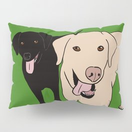 Tanner and Lily Best Labrador Buddies Pillow Sham