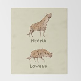 Hyena Lowena Throw Blanket