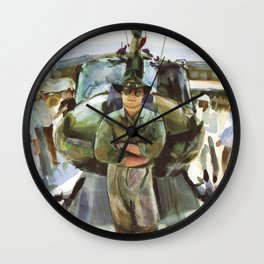 """Semper Paratus"" - ""Always There, Always Ready"" - Lt. Luciw of the R.I. Army National Guard Wall Clock"