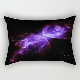 Purple Butterfly Nebula Galaxy Space Rectangular Pillow