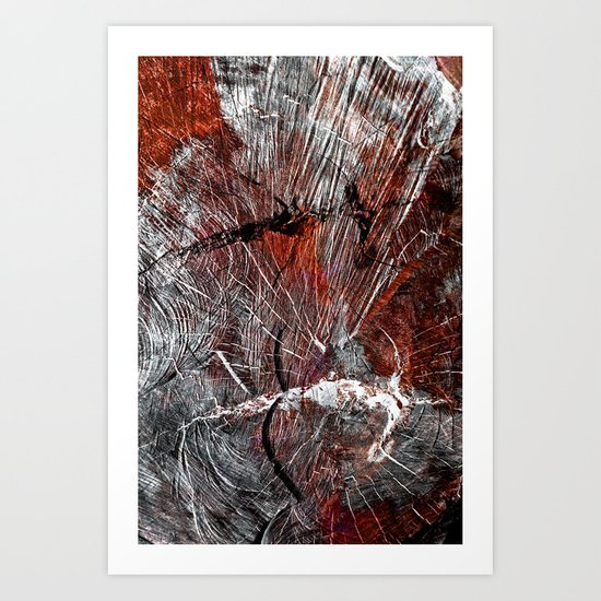 RED ARCHETYPAL STRUCTURES Art Print