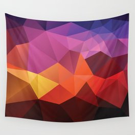 Abstract geometric triangle background Wall Tapestry