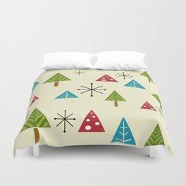Mid Century Modern Christmas Trees Duvet Cover