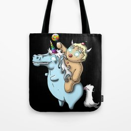 Gingerbread Unicorn, Charge! Tote Bag