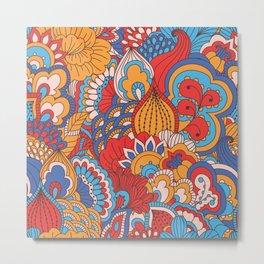 Paisley Pop Tangle #2 Metal Print