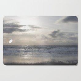 Silver Scene ~ Ocean Ripple Effect Cutting Board