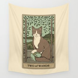 Two of Wands Wall Tapestry