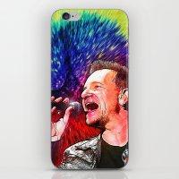 u2 iPhone & iPod Skins featuring U2 / Bono 3 by JR van Kampen