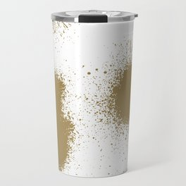 Spray With The Wind - Paint Splash Gold Travel Mug