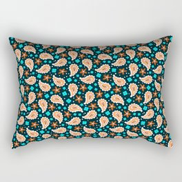 Paisley vector seamless pattern. Rectangular Pillow