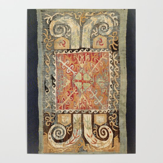 Kaitag 18th Century Caucasian Embroidery Print by vickybragomitchell