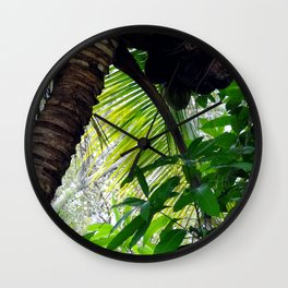 Coconut Palm Wall Clock