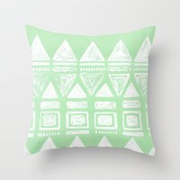 uk Throw Pillows featuring uk by L Step