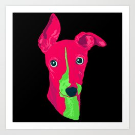 italian greyhound - blk Art Print