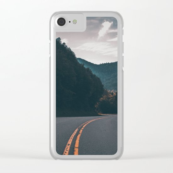 Road #Trees Clear iPhone Case