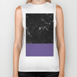 Ultra Violet Meets Black Marble #1 #decor #art #society6 Biker Tank