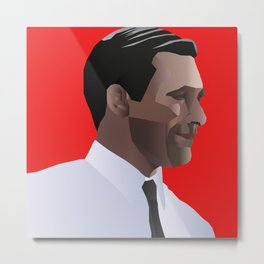 Mad Men star Don Draper Metal Print