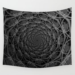 Galaxy of Filaments in Black and White Wall Tapestry