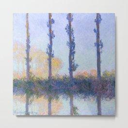 "Claude Monet ""The Four Trees"" Metal Print"