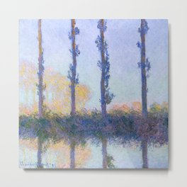"Claude Monet ""The Four Trees"" Metal Print"