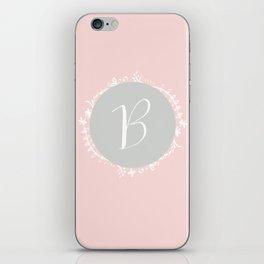 Garland Initial B - Grey iPhone Skin