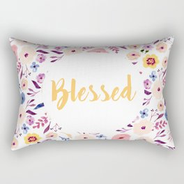 Blessed with Flowers Rectangular Pillow